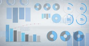 Statistics performance charts with bright background Stock Image
