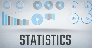 Statistics performance charts with bright background Stock Images