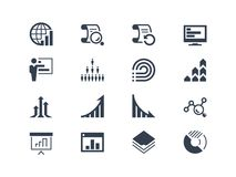 Statistics and report icons. Easy to edit and modify Stock Images