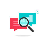 Statistics research icon vector, analysis data, analyzing chat information, explore Stock Images