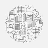 Statistics round vector illustration Stock Photos