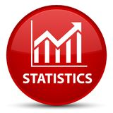 Statistics special red round button Royalty Free Stock Image