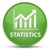 Statistics special soft green round button Royalty Free Stock Images