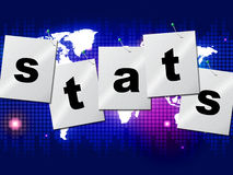 Statistics Stats Means Report Bytes And Analysing Royalty Free Stock Image