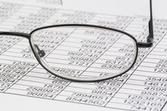 Statistics and tables stock photography
