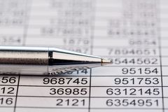 Statistics and tables Royalty Free Stock Photos