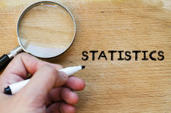 Statistics text concept Stock Photography