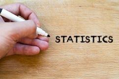 Statistics text concept Royalty Free Stock Photos