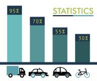 Statistics transport design Royalty Free Stock Photo