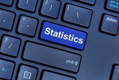 Statistics word on computer keyboard Royalty Free Stock Photo