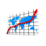 Statistics - worldmap Stock Image