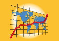 Statistics / worldmap - business succes royalty free stock photos