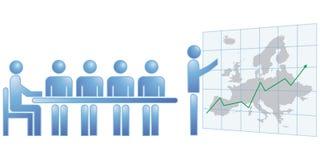 Statistieken Europa stock illustratie