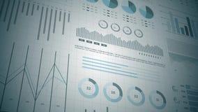 Statistieken, financiële marktgegevens, analyse en rapporten, aantallen en grafieken stock illustratie