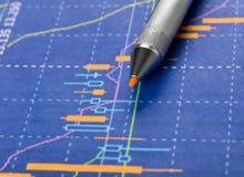 Statistieken, grafieken Stock Fotografie