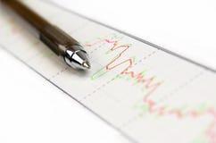 Statistieken, grafieken Royalty-vrije Stock Foto's
