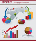 Statistieken infographic element Stock Afbeeldingen