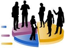 Statistieken met silhouetten Stock Foto's