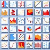 Statistik-Element-Satz Stockbild