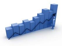 statistik för 1 affär Arkivbilder