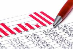 statistik för 2 finans Arkivfoton