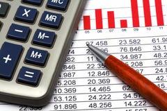 statistik för 4 finans Arkivbilder