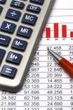 statistik för 5 finans Arkivfoton
