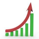 statistik för affär 3d Royaltyfri Fotografi