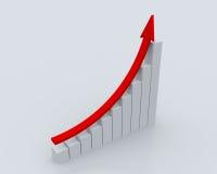 statistik för affär 3d Royaltyfria Foton