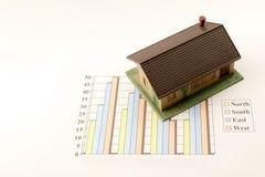 statistik för en försäljningar Arkivfoto