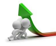 statistik för folk för förbättring 3d liten Arkivbild