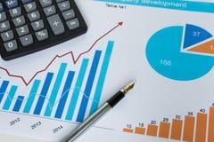 Statistik för uppsättning för diagram för affärsdiagram ny Arkivbilder