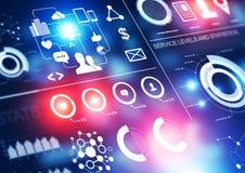 Statistik-Geschäfts-Hintergrund Lizenzfreie Stockfotos