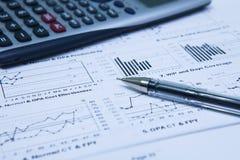 Statistik-Gewinn- und Verlustrechnung Lizenzfreies Stockbild