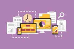 Statistik och e-affär stock illustrationer