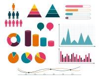 Statistik und Daten, Infographic-Gestaltungselemente Stockfoto