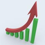 Statistiken des Geschäfts 3d lizenzfreie abbildung
