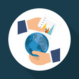 Statistiken an Hand, Vektordesign Lizenzfreie Stockbilder