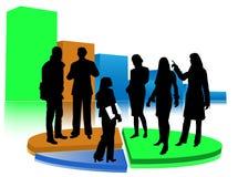 Statistiken mit Schattenbildern Lizenzfreie Stockfotos
