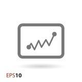 Statistikikone für Netz und Mobile Lizenzfreies Stockbild