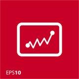 Statistikikone für Netz und Mobile Lizenzfreie Stockbilder