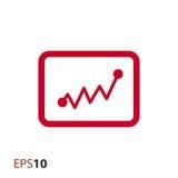 Statistikikone für Netz und Mobile Stockfotos