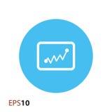Statistikikone für Netz und Mobile Stockfotografie