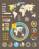 Statistikinformationen von verschiedenen Industrien lizenzfreie abbildung