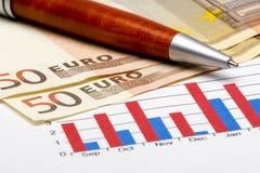 Statistique 11 de finances Photo libre de droits