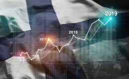 Statistique croissante 2019 financier contre illustration libre de droits