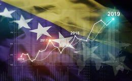 Statistique croissante 2019 financier contre la Bosnie-Herzégovine illustration de vecteur