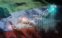 Statistique croissante 2019 financier contre la République de Dagestan la Floride illustration libre de droits
