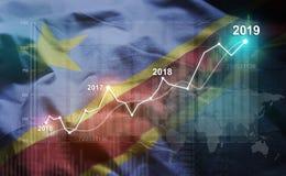 Statistique croissante 2019 financier contre la République Democratic de illustration libre de droits