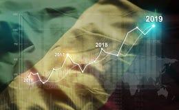 Statistique croissante 2019 financier contre la République du Congo F illustration de vecteur